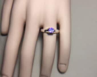 Purple Zircon Ring