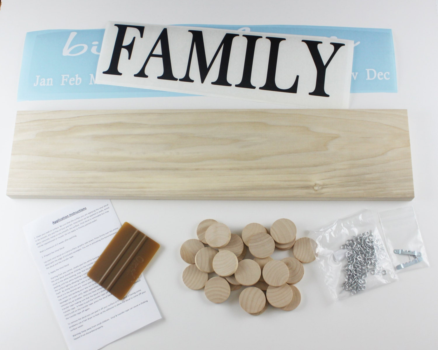 Diy Family Calendar : Family birthday board diy kit wood sign celebrations