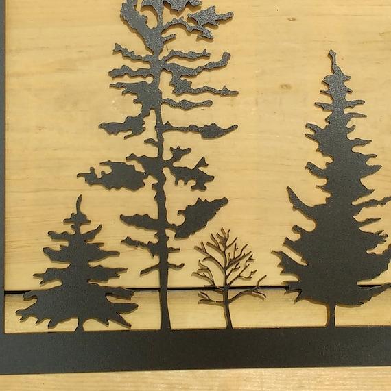 Metal Tree Art Wall Art Decoration Rustic Silhouette