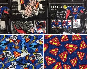 1/2 Yard Superman Fabric / Fabric By The Yard