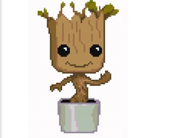 Baby Groot Cross Stitch Pattern