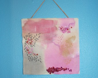 Pink and Grey Mini Tapestry