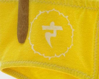 Solar Plexus Chakra Yellow Boy-Cut Underwear - Recycled Cotton - Made to Order