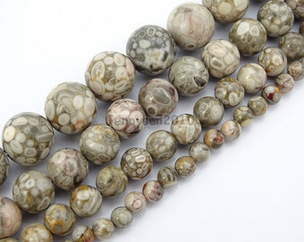 Natural Medical Stone Jasper Gemstone Round Beads 15'' 4mm 6mm 8mm 10mm for Jewelry Making Crafts