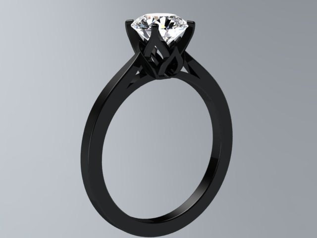 unique gold vidar engagement black ring topaz boutique blue products rings