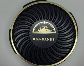 vintage Big Bands coaster set of 6 with holder