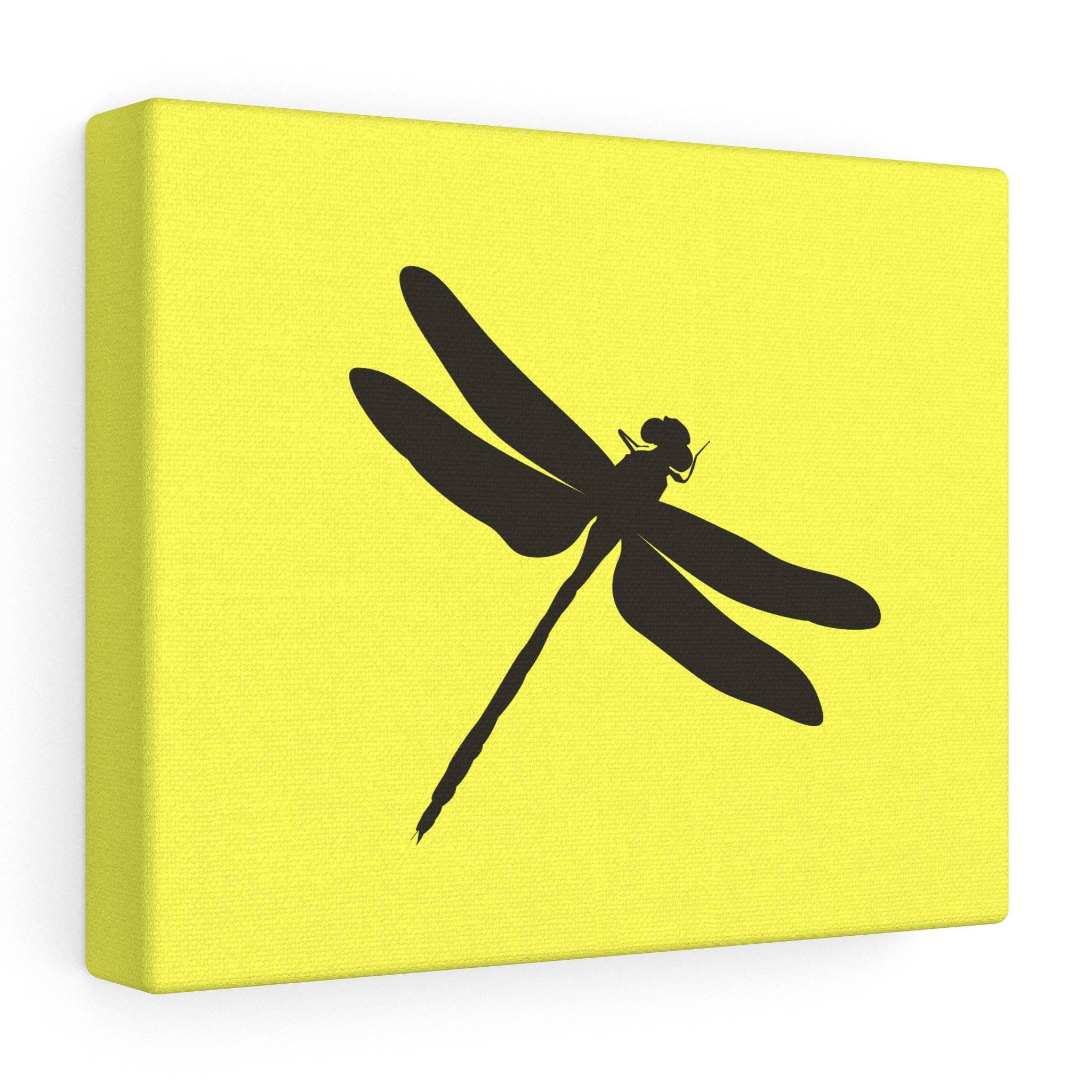 Dragonfly Canvas Wall Art Yellow Black