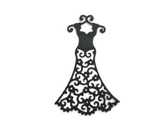 Filigree Dress Paper Cut Out set of 20