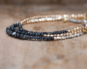 Raw Black Diamond Bracelet
