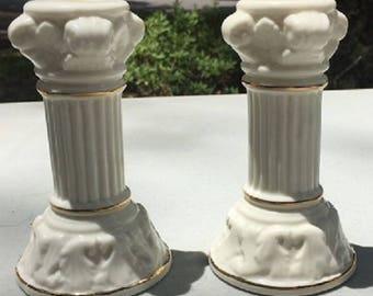 Vintage Glass Candle Holders - 2