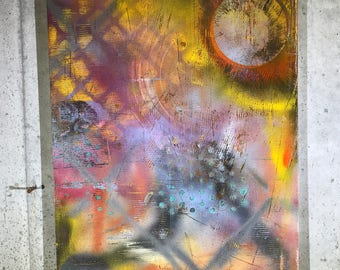 Abstract Painting Spray Paint Art