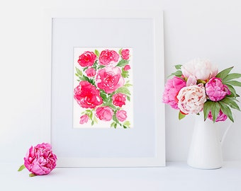 Rose Art, Rose Watercolour, Roses Watercolor Art, Pink Roses, Roses Original Painting, Rose Flowers Watercolour, Centifolia Roses Grasse