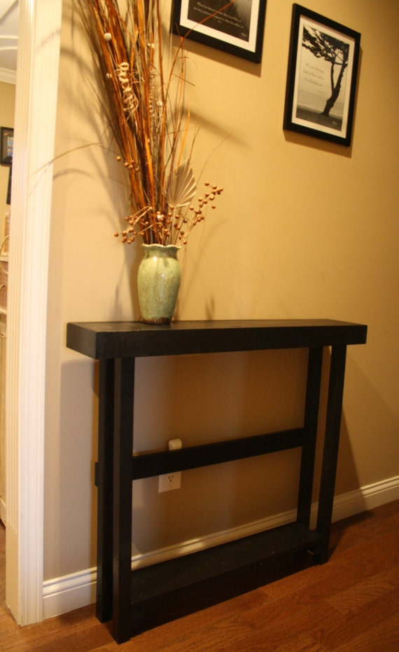 Foyer Table Rooms To Go : Unique primtiques primitive sleek black tall skinny