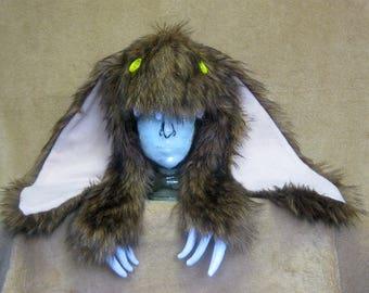 Big furry monster hat - Brown bunny