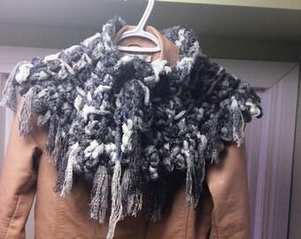 Women's Cowl, Crocheted Cowl, Crocheted Shawlette,