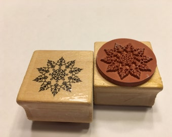 Snowflake rubber stamp, 25 mm (BB4/7)