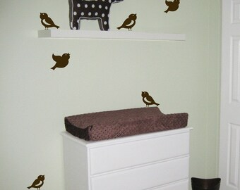 Little Birds - Set of SIX - Wall Decals - Your Choice of Color