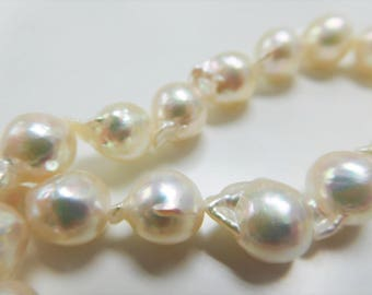 8-9mm Semi-Round/Baroque Akoya Pearl Necklace