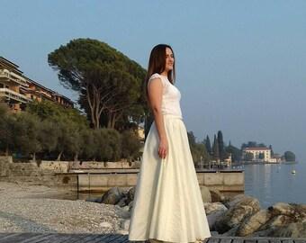 Two-piece wedding dress, 2 piece wedding dress, long wedding dress, Alternative wedding dress, Modern wedding dress, separate dress