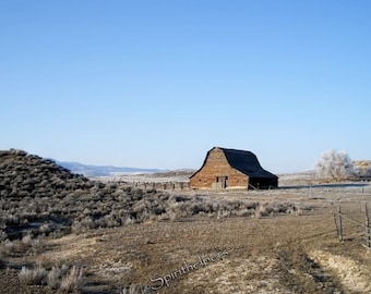 So Montana, Old Farm Barn, Old Building, Once Upon a Time, Photograph or Greeting Card