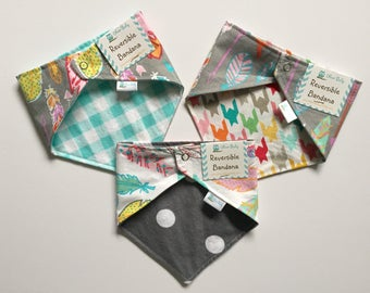 Feathers and Arrows - Reversible Bandanas