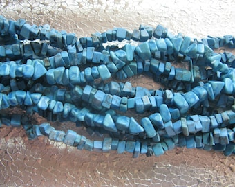 Dyed Howlite Blue Turquoise Gemstone Chip Beads 3 - 12 inch strands  Bead Chips