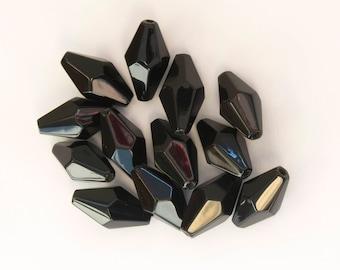 Black Onyx Beads, Set of 12