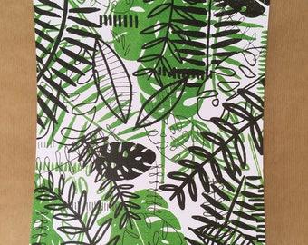 A4 High Quality Rain-forest Illustration Print - 300gsm