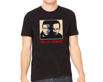 Hello Friend, Mr Robot Black T-Shirt, LJ #50