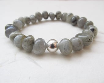 Labradorite bracelet, yoga bracelet, labradorite jewelry