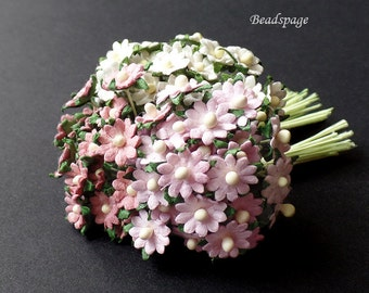 Miniature Flowers Bouquet for 1:12 scale ~ 1/6 scale Dollhouse Diorama Barbie Blythe Sylvanian Families, DIY Craft (see Item Details)