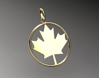 Canada gold maple leaf pendant