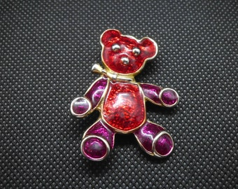 Colorful Teddy Bear Brooch
