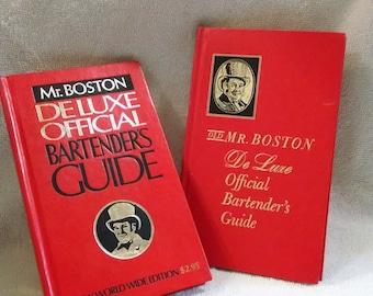 Pair of Mr Boston Bartenders Guide Books