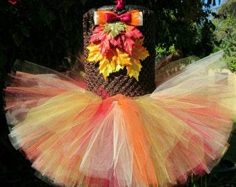 Fall Leaves Tutu Dress