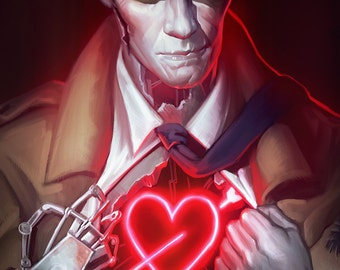 Fallout 4 Nick Valentine Open Edition Art Print 8x10 inch