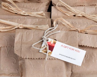 100 Handmade Organic Soap Favors for Weddings - Bridal Shower Favors - Party Favors - Natural Soaps - Vegan Soaps