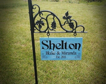 Personalized Yard Signs, Mothers Day Gift, Garden Signs, Personalized Gifts, Housewarming Gifts, #9