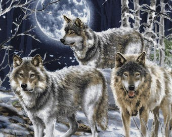 Howl at the Moon - Custom Made Scrub Tops Nursing Uniforms