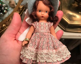 1940s Storybook Doll-Lucy Locket-bisque doll