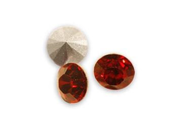 Swarovski crystal Siam 1028 Xilion SS39 (8mm) round-conical bottom ss 39