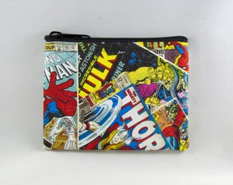 Marvel Comics Coin Purse - Coin Bag - Pouch - Accessory - Gift Card Holder