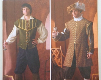 Men's Renaissance Costume - Doublet, shirt, pants, hat; Uncut Simplicity Costume Collection sewing pattern 4059 size XS-XL; Great for plays