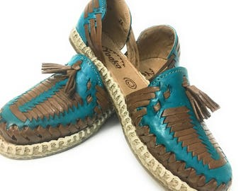 Original Mexican Huarache Sandals. Closed toe leather sandals