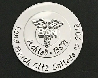 University Nurse Pin for Pinning Ceremony   Personalized Nurse Pin for BSN Graduation   RN, BSN, Lvn, Lpn, Ma, Nursing Pin, Bsn Pin