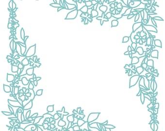 Flower Frame Cut File .SVG .DXF .PNG