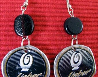 Lieber Recycled bottle cap earrings