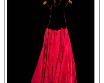 Red Dress Illustration-Pop Art Print
