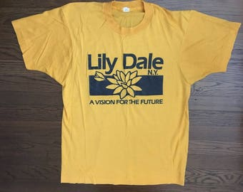 Vintage Lily Dale NY A Vision For the Future T-shirt Screen Stars M