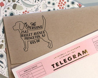 Dog Address Stamp, Custom Address Stamp, Beagle Return Address Stamp, Self Ink Stamp, Wedding Stamp Idea, Doglover Stamp, Housewarming Gift,